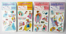 4X RARE VINTAGE 80'S KUTSUWA TRANSFER STICKER SHEETS BEAUTIFUL SUNDAY JAPAN NEW!