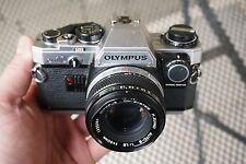 Olympus OM-10 50mm f/1.8 Auto-S Lens 35mm Film Camera OM System SLR Student Set
