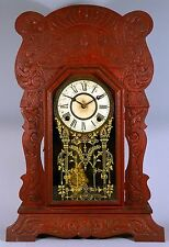 Antique Sessions Clock Company Oak Gingerbread Project Clock
