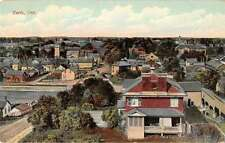 Perth Ontario Canada panoramic birds eye view of area antique pc Z26349