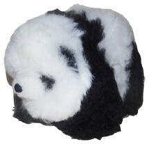 GORGEOUS CUDDLING 100% BABY ALPACA FUR PANDA BEAR SOFT TOY - HANDMADE PERU