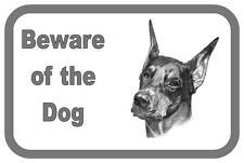 Doberman Beware of the Dog  Design Metal Door Sign