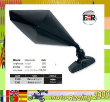 YAMAHA YZF R6 SPORT BIKE REAR MIRRORS MOTORCYCLE SIDE VIEW BLACK