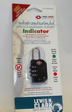 NEW LEWIS N CLARK TRAVEL LOCK - TSA30 BLACK WITH INDICATOR