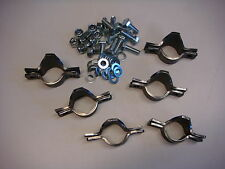 "Set of 6 Roll Cage Saddles weld on bolted clamp 38.1mm 11/2"" tube"