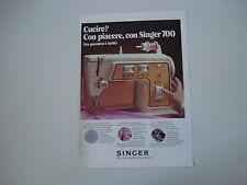 advertising Pubblicità 1971 MACCHINA PER CUCIRE SINGER 700