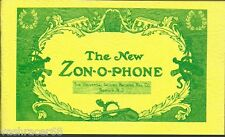 THE ZON-O-PHONES CATALOGS - PRICE LIST - REPRINT