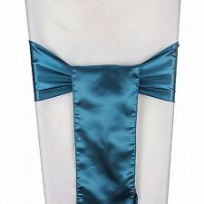 50 Pc  Satin Chair Cover Sash Bows Sashes Wedding Event Party Decoration Banquet