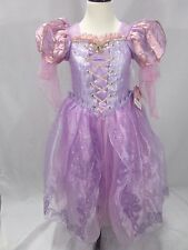 Disney Store Tangled Princess Rapunzel Deluxe Gown Child Girls Costume 7/8