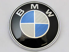 BMW 1 3 5 7 Z3 Z4 X3 X5 SERIES BONNET BADGE CARBON FIBER FRONT LOGO EMBLEM 82mm