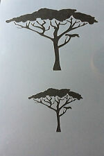 Safari Tree A4 Mylar Reusable Stencil Airbrush Painting Art Craft