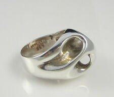 Estate Vintage Gorgeous 1960s Open Dome Sterling Silver 14.4 Gram Size 8.25 Ring