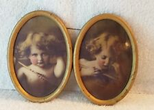 Antique Vintage 1890's Oval Framed Cupid M.B. Parkinson Pictures