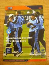 08/06/2003 Cricket Programme: Gloucestershire v Warwickshire [At Gloucester] . T