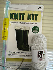 Knit Kit Complete Kit to Knit Boot Cuffs Wool/Needles Novel Gift Idea BNIB