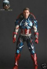 Play Arts Kai Variant Marvel Universe Avenger Captain America Action Figure Toys