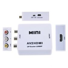 White Mini RCA AV to HDMI Converter Adapter Composite AV2HDMI Converter 1080P