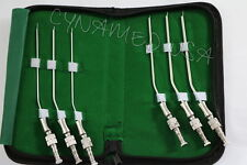 NEW GERMAN Frazier Suction tube set of 6 tubes! Dental ENT Surgical Instruments