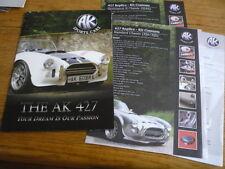 AK SPORTS CARS AK427 (COBRA REPLICA) KIT CAR SALES BROCHURE 2011