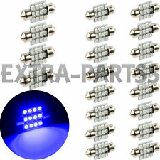 20X Ultra Blue 31MM 12SMD Festoon Dome Interior LED Light bulbs DE3175 3021 6428