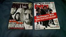 Heavy Metal Guitar Tab Magazine Lot NIRVANA Headbangers Guitar World GuitarOne
