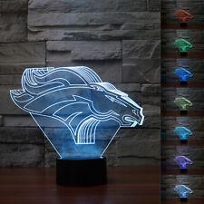 DENVER BRONCOS NFL Team Logo 3D Night Light 7 Color Change LED Table Lamp Gift