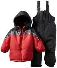 New Xtreme Boys Girls Colorblocked Red Snow Suit Coat & Bib Pants Size 12 Months