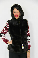 Real Mink Fur Hooded Jacket size M (UK8-10-12 ) by DARIAPELLICCERIE