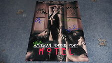 """AMERICAN HORROR STORY : HOTEL PP SIGNED 12""""X8"""" A4 PHOTO POSTER EVAN PETERS GAGA"""