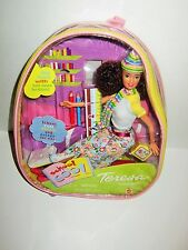 School Cool Teresa Barbie Doll 2000 Curly Hair # 29185 Supplies Backpack NRFB