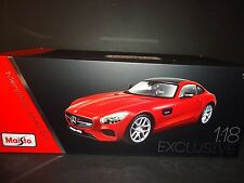 Maisto Mercedes Benz AMG GT 2015 Red Exclusive Edition 1/18 High Detail Ver.