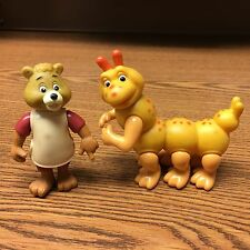 "Lot of 2 Vintage 1985/86 ""Teddy Ruxpin"" 3"" & ""Grubby the Caterpillar"" 3"""