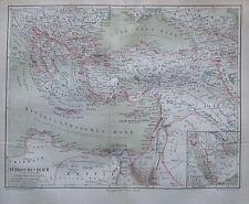 1878 TÜRKISCHES REICH Türkei Historische Landkarte Druck Old Map Lithographie