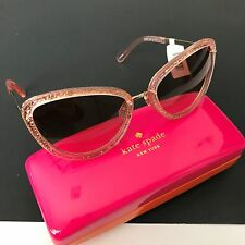 Kate Spade NY KLAUDIA/S 0CW1 Women's Pink Gold Cateye Sunglasses 57mm NWT Case