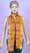 INDIAN HAND EMBROIDERY VINTAGE LONG DUPATTA SILK KANTHA STOLE VEIL SCARF THROW