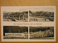 OLD BLACK & WHITE MULTI VIEW POSTCARD OF BAD SONNENBRINK, OBERNKIRCHEN, GERMANY