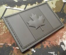 3D PVC CANADA FLAG RUBBER CANADIAN ARMY BLACK OPS VELCRO® BRAND FASTENER PATCH