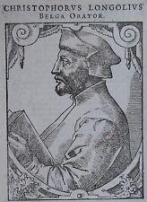 Christophe de Longueil , CHRISTOPHER LONGOLIUS (1488-1522). Juriste et humaniste