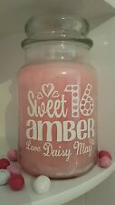 Personalised Candle Jar Sticker/Label Happy Sweet 16 Sixteen Teen Gift/Present