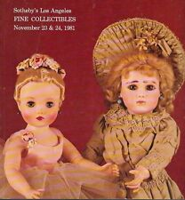Sotheby's Sale 325 Fine Collectibles Los Angeles Auction Catalog 1981