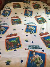 Disney TOY STORY Twin Flat Bed Sheet - Quilting Fabric - Heroes in Training Buzz