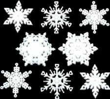 Jesse James Embellishments - Dress It Up ~ New Fallen Snowflakes 2486 Crafts