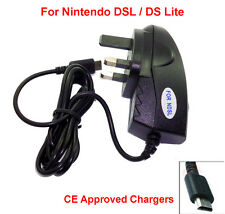 UK 3 PIN CE MAINS WALL CHARGER AC POWER ADAPTER FOR NINTENDO DS LITE NDSL DSL