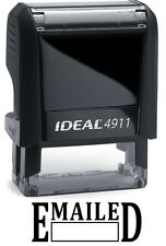 EMAILED text with Date Box on IDEAL 4911 Self-inking Rubber Stamp, BLACK INK