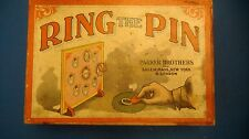Antique circa 1900 Vintage RING THE PIN board game child game Parker Brothers