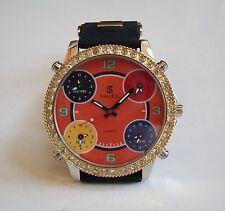 Men's Simon & Co. CZ Bezel 5 Time Zone Men's Large Fashion Watch