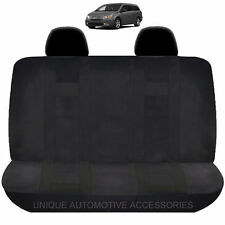NEW SOLID BLACK DBL STITCHED POLYESTER BENCH SEAT COVER 4PC SET FOR VANS 1920