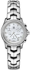 CYBER MONDAY SALE TAG HEUER  LINK CJF1314.BA0580 CHRONO PEARL DIAMOND WATCH