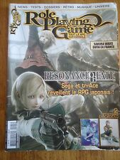 REVUE MAGAZINE ** ROLE PLAYING GAME n°25 ** JEUX VIDEOS RPG RESONANCE OF FATE