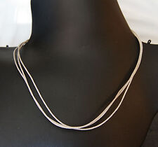 Silver Triple Lace Braided Cord with Sterling Silver Lobster Clasp